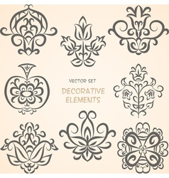 Decorative ethnic elements vector image vector image