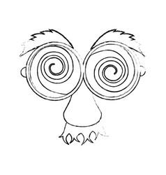eye glasses with mustache joke mask vector image