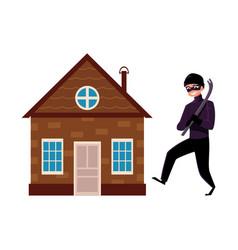 Flat house insurance concept set vector
