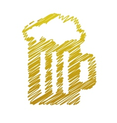 Handwriting beer picture vector