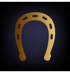 Horseshoe sign Golden style icon vector image