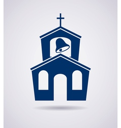 icon of church building vector image vector image