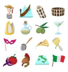 Italy cartoon icons vector