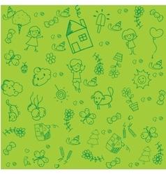 Kids doodle design vector
