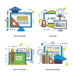 Learning online education learning technologies vector