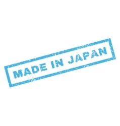 Made in japan rubber stamp vector