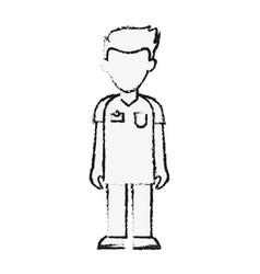 Man nurse avatar vector