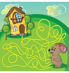 Maze with mouse vector image