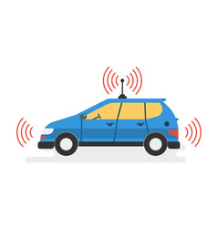 Modern self driving car vector