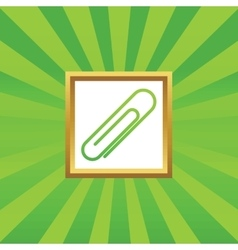 Paperclip picture icon vector