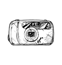 point-and-shoot camera vector image