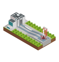Rocket isometric composition vector