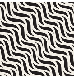 Seamless diagonal wavy zigzag lines pattern vector