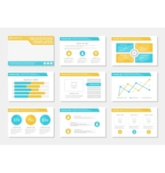 Set of turquoise and orange template for vector