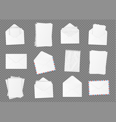 set of various blank white paper vector image