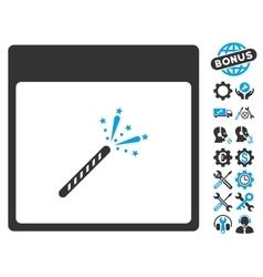 Sparkler Firecracker Calendar Page Icon vector image