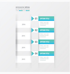 timeline blue gradient color vector image vector image