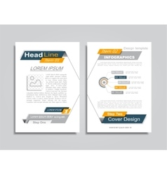 Brochure layout with place for your data vector