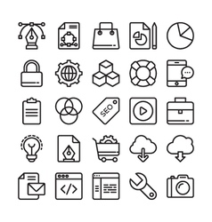 Web design and development colored icons 1 vector