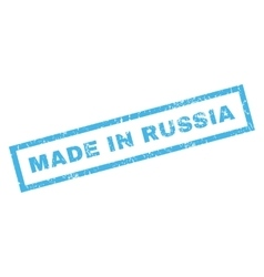 Made in russia rubber stamp vector