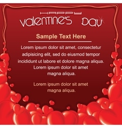 Valentines Day Red Card Background Template vector image