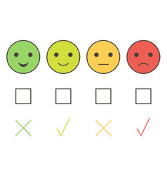Customer service smiley icons vector