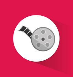 cinema movie reel film icon vector image