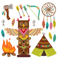 Set of isolated tribal elements vector