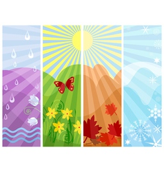 One Year in Four Seasons vector image