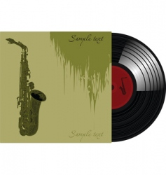 trumpet record sleeve vector image
