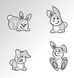 Rabbit cartoon vector