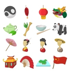 China cartoon icons vector