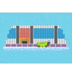 Flat hockey arena vector