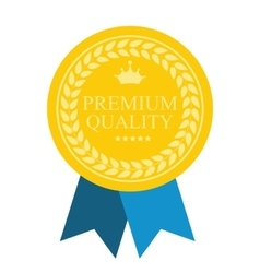 Art flat premium quality medal icon for web medal vector