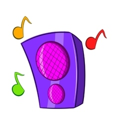 Music column icon cartoon style vector