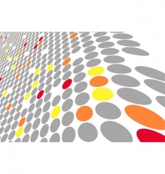 Abstract colored wavy circles background vector