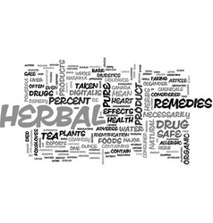Are herbal remedies safe text word cloud concept vector