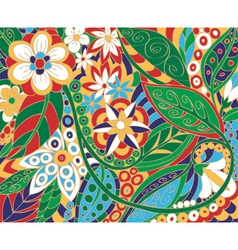 Batik floral ornament vector