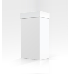 Blank White Vertical Carton box on Background vector image vector image