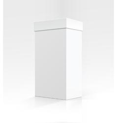 Blank white vertical carton box on background vector