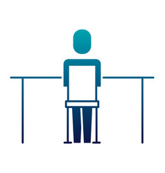 businessman sitting back work office vector image