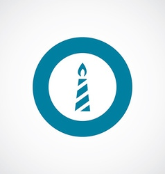 Candle icon bold blue circle border vector