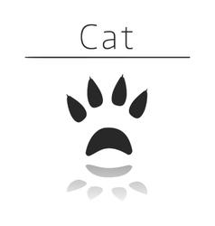 Cat animal track vector
