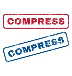 Compress rubber stamps vector