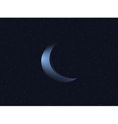 Crescent moon and starry sky vector
