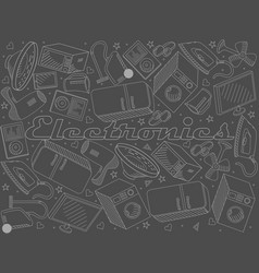 Electronics chalk line art design vector