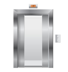elevator with open doors vector image