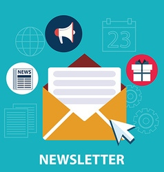 Flat design concept of regularly distributed news vector image