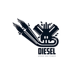gasoline engine simple flat icon pictogram vector image
