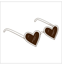 Heart shaped glasses vector image vector image